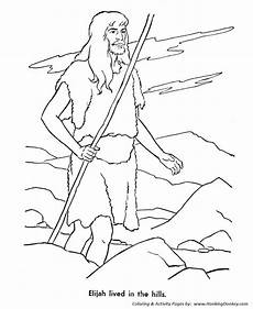 Bible Story Characters Coloring Page Sheets Elijah The