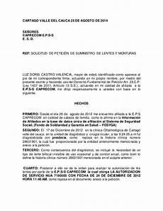 Ejemplos De Cartas De Peticion Modelo Derecho De Peticion