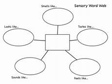 Word Web Templates Sensory Words Web Free By Polka Dot Lesson Plans Tpt
