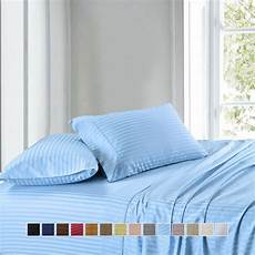 300 thread count stripe sheet set combed cotton bed sheet
