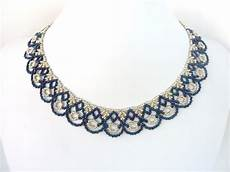 free beading pattern for scalloped lace necklace