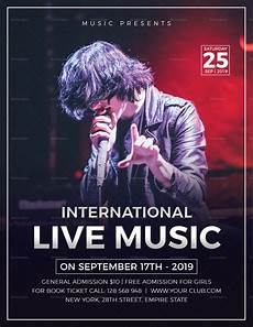 Concert Template Live Music Concert Flyer Design Template In Word Psd