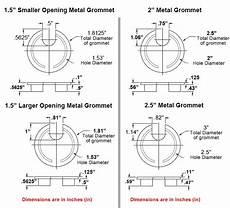 2 5 Round Light Hole Size Metal Desk Grommets 1 5 Quot 2 Quot 2 5 Quot Hole Sizes Color