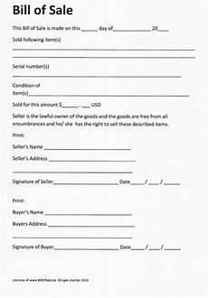 Bill Of Sale Doc Free Printable Bill Of Sale Camper Form Generic