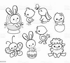 happy easter illustration characters