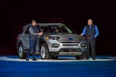 ford unveils the new 2020 explorer ford unveils redesigned more powerful 2020 explorer suv
