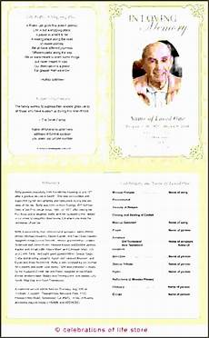 Printable Funeral Programs 11 Printable Funeral Program Template Sampletemplatess
