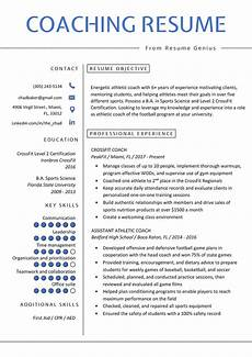 How A Resume Looks Like Coaching Resume Sample Amp Writing Tips Resume Genius
