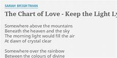 Quot The Chart Of Love Keep The Light Quot Lyrics By