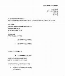 Resume Outline For High School Students 15 Sample High School Resume Templates Pdf Doc Free