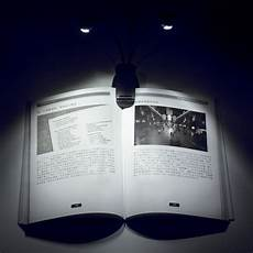 led book light dual arm clip on reading l for