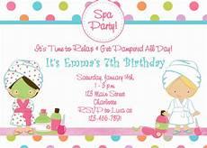 Spa Party Invitation Wording Free Printable Spa Birthday Party Invitations Pool