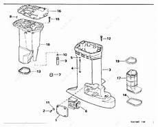 Johnson 1996 115 J115sledr Exhaust Housing Parts Catalog