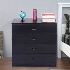 zimtown nightstand 4 drawer chest drawerr chest with metal