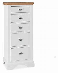 premier collection hstead two tone 5 drawer chest