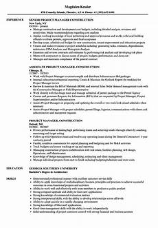 Architectural Project Manager Resume Construction Project Manager Resume Examples Best Resume