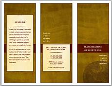 Make A Trifold Brochure In Word Tri Fold Brochure Template