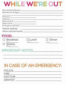 Babysitter Sign Up Babysitter Notes Babysitter Notes Babysitting Kit