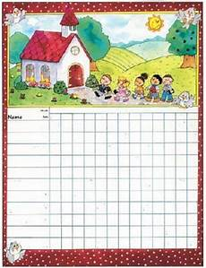 Printable Attendance Chart For Kids Sunday School Attendance Chart By School Specialty