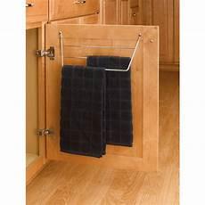 towel holder rack chrome inside cabinet door mount