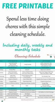 Daily Weekly Monthly Cleaning A Simple Weekly Cleaning Schedule Tales Of Beauty For Ashes