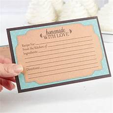 Homemade Recipe Cards Quot Homemade With Love Quot Recipe Cards Mini Kitchen Utensils