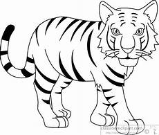 Simple Tiger Outline Tiger Face Outline Drawing At Getdrawings Free Download