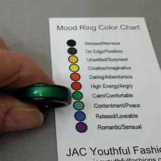 Mood Ring Mood Chart Natural Gemstone Magnetic Hematite Mood Ring With Mood