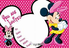 Free Printable Minnie Mouse Invitations 20 Minnie Mouse Party Invitations Kids Children Quot S Invites