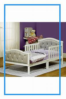 toddler bed with soft tufted headboard wood bed