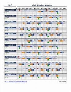2 Weeks On 1 Week Off Roster Calendar Free Rotation Schedule Template