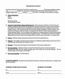 Catering Contracts Samples Free 7 Sample Catering Contract Forms In Pdf Ms Word
