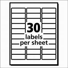 Avery Label Templates Word 10 Template For Address Labels 30 Per Sheet