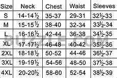 Shirt Conversion Chart Complete Men S Shirt Size Chart And Sizing Guide All Guys