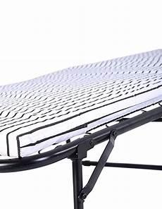 folding metal guest bed steel frame mattress cot
