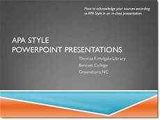 Apa Formatting For Powerpoint Apa Style Holgate Library Research Guides