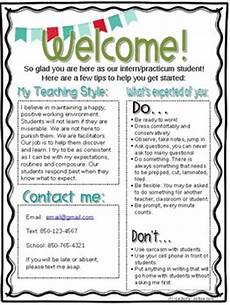 Letters To Teachers From Students Editable Student Teacher Intern Welcome Letter By Mrs