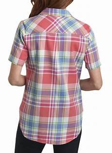 sleeve plaid shirts for sleeve plaid shirt womens tops dickies