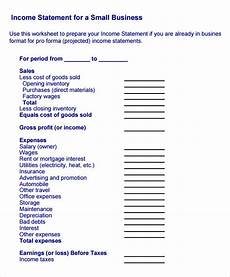 Small Business Financial Statements Examples Free 9 Sample Income Statement Templates In Pdf Ms Word