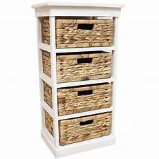 white seagrass basket drawer chest storage cabinet unit