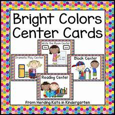 Cards And Pockets Color Chart Bright Colors Pocket Chart Center Cards By Herding Kats In