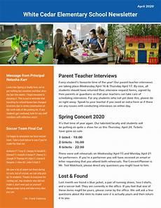 Newsletter Templates School Elementary School Newsletter