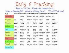 Track Daily Activities Second Grade Thrills Daily 5 Tracking
