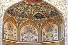 fresco indian india jaipur fresco on a wall stock photo image of