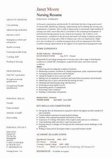 Cv Template For Nurses Nursing Cv Template Nurse Resume Examples Sample
