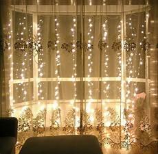 String Fairy Wedding Curtain Light Indoor Outdoor Decorative 3x3m Curtain String Light 300led