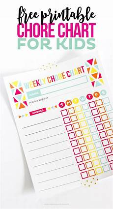 Chore Calendar Chore Charts For Kids Keep Kids On Track Using My Free