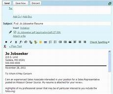 How To Email Your Resume And Cover Letters Email Cv Cover Letter Template Cover Letter For Resume