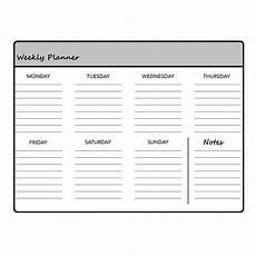 planners 2020 weekly printable weekly planner template