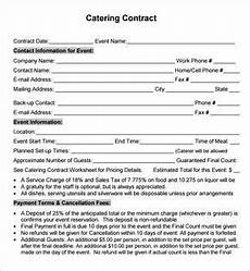 Catering Contracts Samples Catering Contract Agreement Starting A Catering Business